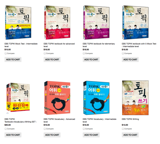 More TOPIK books are now available.
